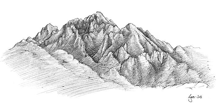 berge und berglandschaften zeichnen. Black Bedroom Furniture Sets. Home Design Ideas