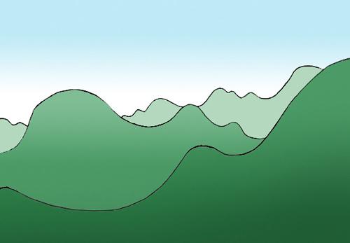Bildbeispiel Für Das Zeichnen Der Luftperspektive