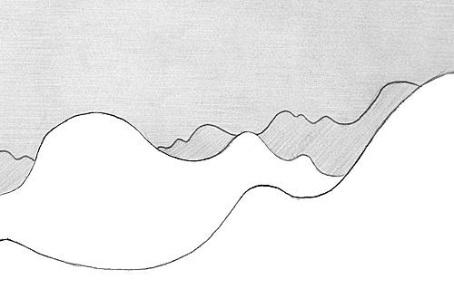 bung berglandschaft mit luftperspektive zeichnen. Black Bedroom Furniture Sets. Home Design Ideas