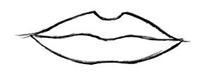 lippen bild zeichnen