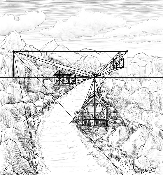 Landschaftsbilder Zeichnen Lernen