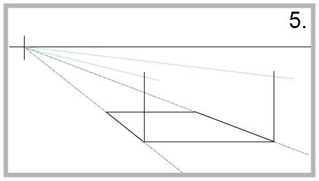 Bung die zentralperspektive mit einem fluchtpunkt zeichnen for Sofa zeichnen fluchtpunkt