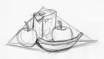 Ein Stillleben Zeichnen Lernen